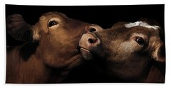 Toned Down Bovine Affection Hand Towel