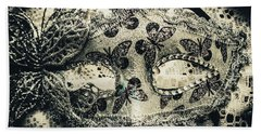 Toned Image Of Beautiful Festive Venetian Mask Bath Towel