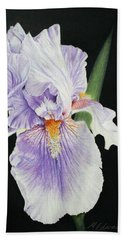 Tonto Basin Iris Hand Towel by Marna Edwards Flavell
