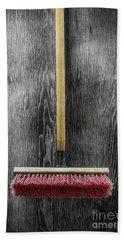 Tools On Wood 14 On Bw Bath Towel by YoPedro