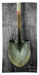 Hand Towel featuring the photograph Tools On Wood 15 On Bw by YoPedro