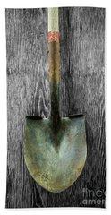 Tools On Wood 15 On Bw Bath Towel by YoPedro