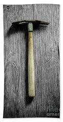 Hand Towel featuring the photograph Tools On Wood 16 On Bw by YoPedro