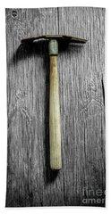 Tools On Wood 16 On Bw Bath Towel by YoPedro