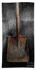 Bath Towel featuring the photograph Tools On Wood 4 On Bw by YoPedro