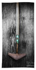 Bath Towel featuring the photograph Tools On Wood 5 On Bw by YoPedro