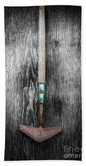 Tools On Wood 5 On Bw Bath Towel by YoPedro