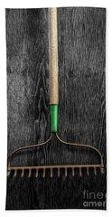 Tools On Wood 9 On Bw Bath Towel by YoPedro