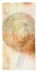 Top Down View Of Spiral Sea Shell Hand Towel