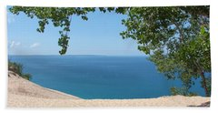 Top Of The Dune At Sleeping Bear Bath Towel by Michelle Calkins
