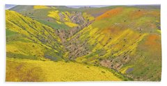 Hand Towel featuring the photograph Top Of The Temblor Range by Marc Crumpler