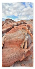 Top Of The World At Valley Of Fire Bath Towel by Ray Mathis