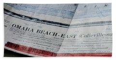 Bath Towel featuring the photograph Top Secret - Omaha Beach by Chris Coffee