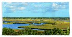 Topsail Island Marshland Hand Towel