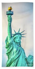 Hand Towel featuring the photograph Torch Of Liberty by Nick Zelinsky