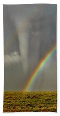 Tornado And The Rainbow II  Hand Towel by Ed Sweeney