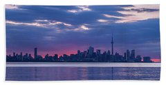 Toronto In Fifty Shades Of Violet And Purple Bath Towel