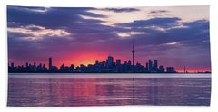 Toronto In Fifty Shades Of Violet Pink And Purple Bath Towel