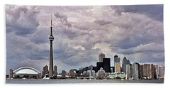 Toronto Skyline Bath Towel