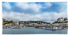Hand Towel featuring the photograph Torquay Devon by Scott Carruthers