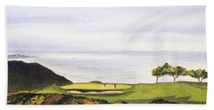Torrey Pines South Golf Course Bath Towel by Bill Holkham