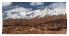 Hand Towel featuring the photograph Torridon Panorama by Grant Glendinning