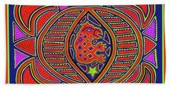 Hand Towel featuring the digital art Tortuga Shaman Spirits by Vagabond Folk Art - Virginia Vivier