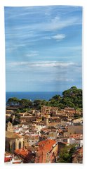 Tossa De Mar Seaside Town In Spain Hand Towel