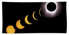 Total Eclipse Sequence, Aruba, 2/28/1998 Bath Towel