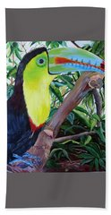 Toucan Portrait Hand Towel by Marilyn McNish