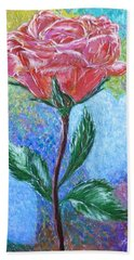 Touched By A Rose Hand Towel