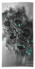 Hand Towel featuring the photograph Tournesols De Paris Monochrome by Jack Torcello