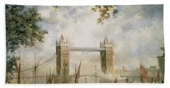 Tower Bridge - From The Tower Of London Hand Towel