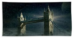 Tower Bridge In Moonlight Hand Towel