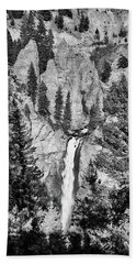 Hand Towel featuring the photograph Tower Falls by James BO Insogna
