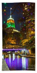 Tower Life Riverwalk Christmas Hand Towel
