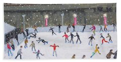 Tower Of London Ice Rink Hand Towel by Andrew Macara