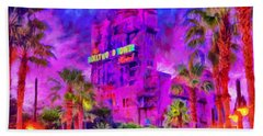 Tower Of Terror Hand Towel by Caito Junqueira