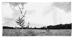 Towering Over The Prairie Bath Towel by Tim Good