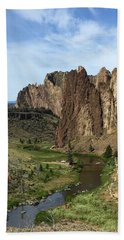 Towering Smith Rocks Bath Towel