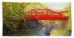 Towpath In New Hope Hand Towel