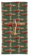Bath Towel featuring the photograph Toy Airplane Scrapper Pattern by YoPedro