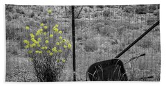 Toy Wheelbarrow And Wild Flowers Hand Towel