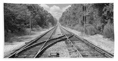 Bath Towel featuring the photograph Tracks 2 by Mike McGlothlen