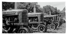 Hand Towel featuring the photograph Tractors by Brian Jones