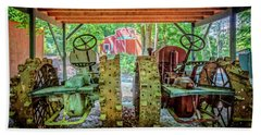 Hand Towel featuring the photograph Tractors Side By Side by Debra and Dave Vanderlaan