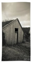 Hand Towel featuring the photograph Traditional Turf Or Sod Barns Iceland by Edward Fielding