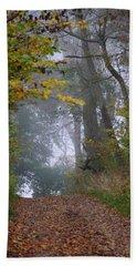 Trail In Morning Mist Bath Towel