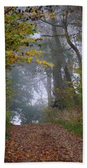 Trail In Morning Mist Bath Towel