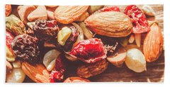 Trail Mix High-energy Snack Food Background Hand Towel